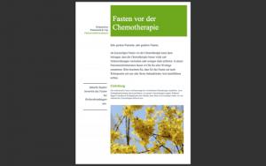 Fasten vor der Chemotherapie